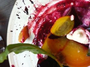 Beetroot, curd & horseradish