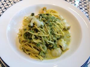 Iddu taglioni with pistachio pesto